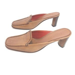 """Cole Haan 2"""" Mules Tan Size 6B"""